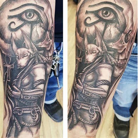 egyptian forearm tattoos 85 anubis designs an symbol