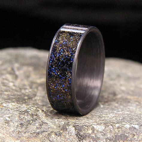 mens wedding rings meteorite unique engagement ring
