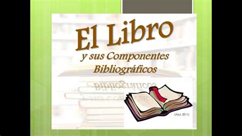libro if not now when partes del libro y sus componentes bibliogr 225 ficos wmv youtube