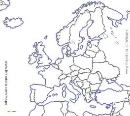 map of europe colouring color blank map physical europe