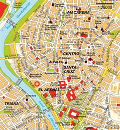 Seville Spain Map by Map Seville Andalucia Spain Maps And Directions At Map