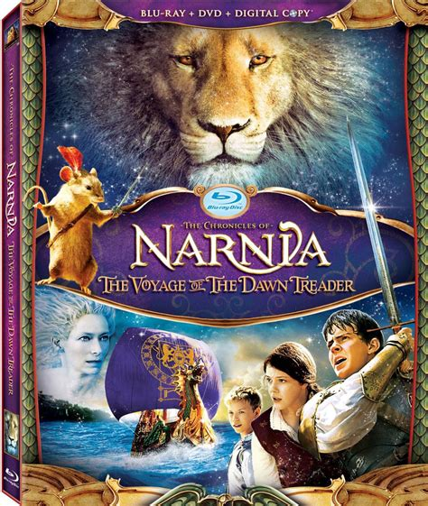 film narnia voyage of the dawn treader dawn treader official cover art for blu ray and dvd