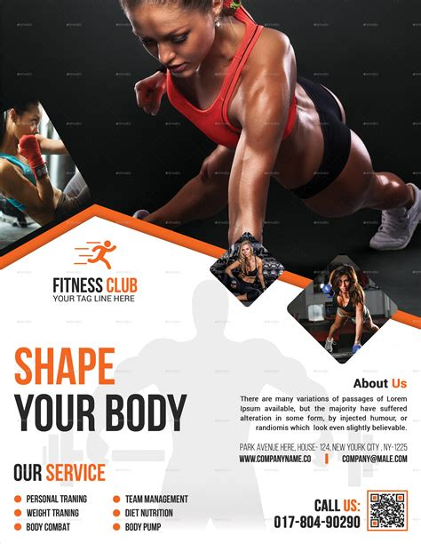 template flyer gym fitness flyer gym flyer by elite designer graphicriver