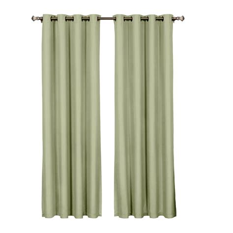 curtains 95 length eclipse cassidy blackout white polyester grommet curtain