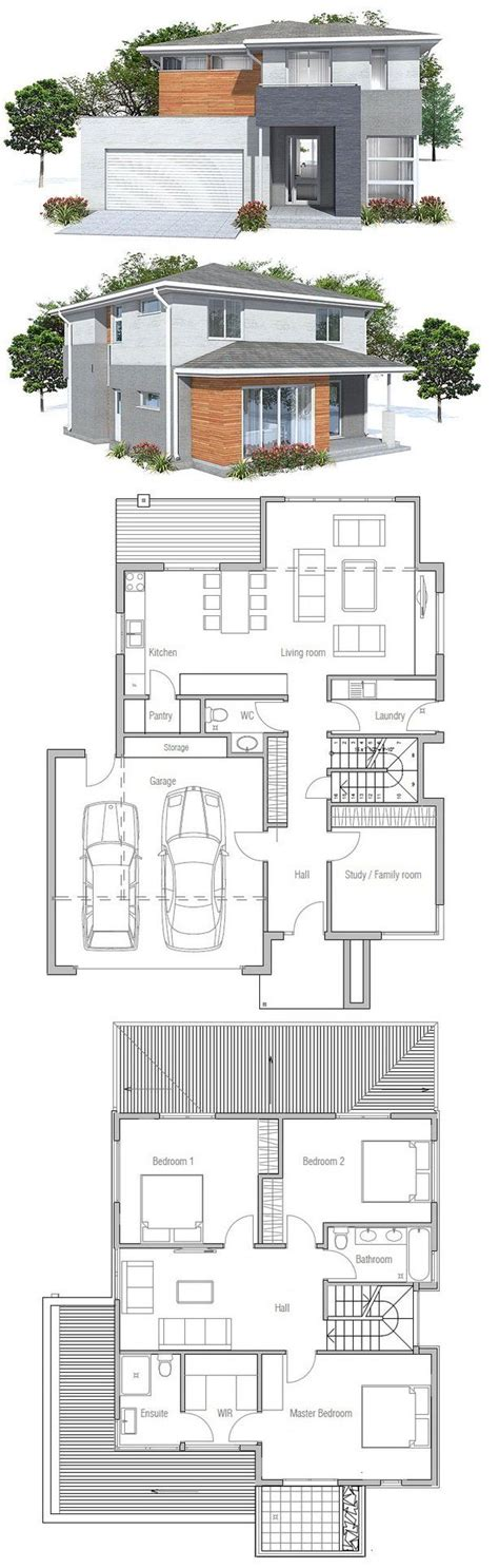 modern house with floor plan 25 best ideas about modern house plans on pinterest