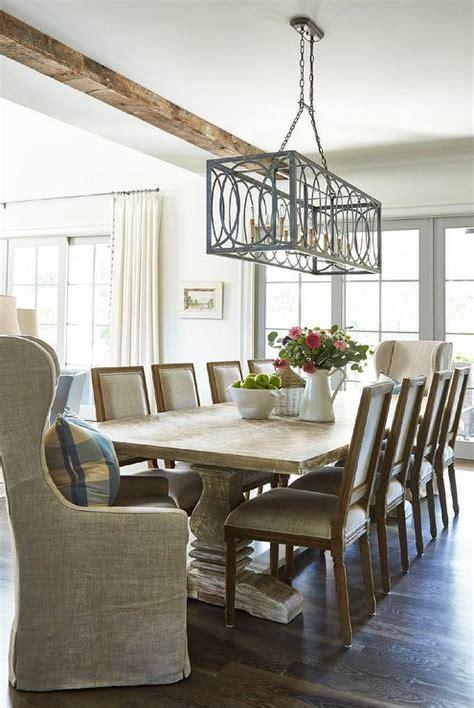 Rectangle Farmhouse Chandelier Sunroom Kitchen Cottage Deck Patio Rice Construction