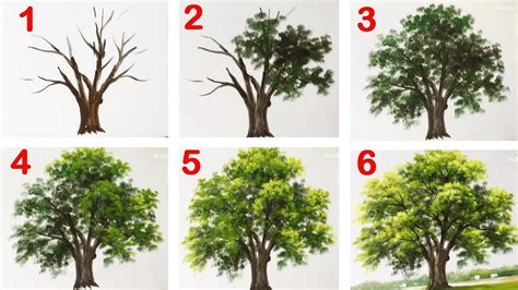 how to paint a how to paint a tree with acrylic lesson 13 youtube