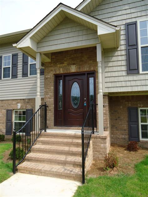 front entry portico  raised ranch   style
