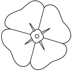 Template Of A Poppy by Remembrance Poppy Template Clipart Best