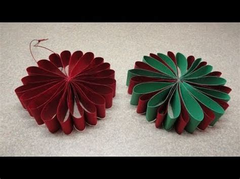 folded flower christmas tree ornament youtube