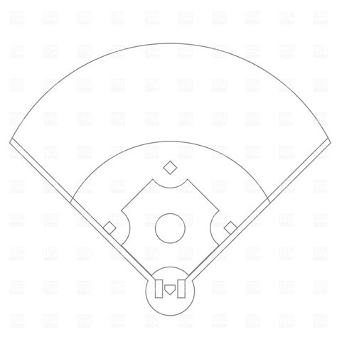 baseball field blank template clipart best