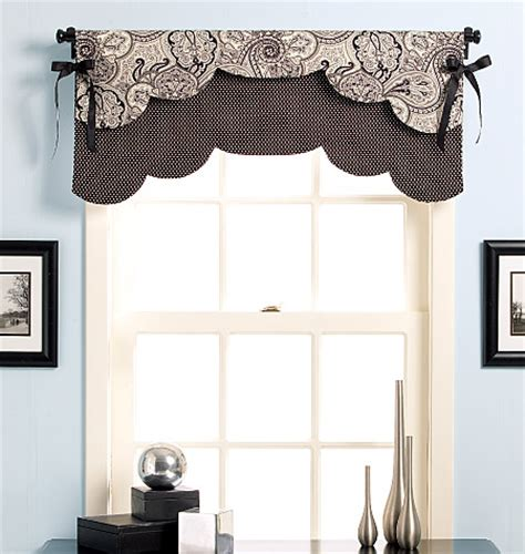 Waverly Curtain Valances B5369 Fast Amp Easy Reversible Valances Home Decorating