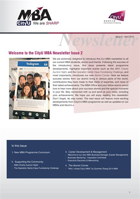 Mba Newsletter by Brochure Newsletter Mba Cityu