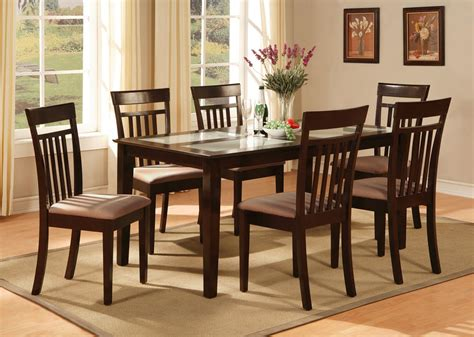 rectangular kitchen table sets 5pc rectangular dinette kitchen dining table w 4 padded chairs in cappuccino ebay