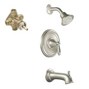 moen brantford single handle 1 spray tub and shower faucet