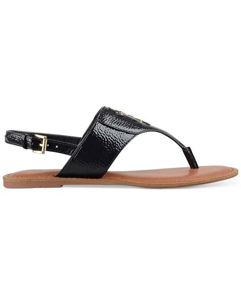 hilfiger flat shoes hilfiger laney flat sandals in black black