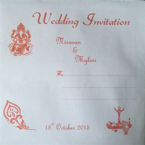 Wedding Invitations Vendors by Indian Wedding Invitation Card Envelope Orange My Tamil