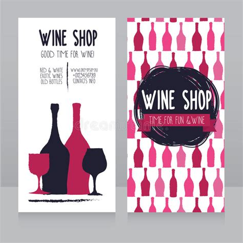 wine card template template for wine shop business card stock vector