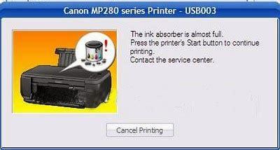 reset mp237 absorber full indahnya berbagi kerusakan printer canon pixma mp237 dan