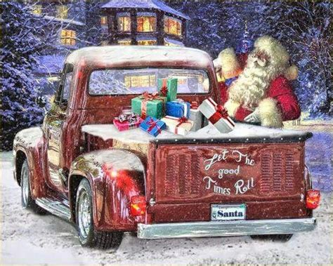 truck santa santas ford truck trucks ford