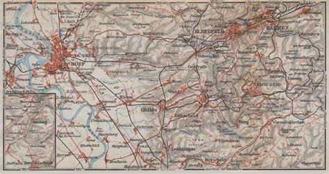 solingen map d sseldorf wuppertal elberfeld barmen remscheid