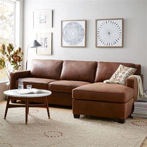 west elm henry leather sofa 14 best chaise sofa styles in 2018 chic sofas with a