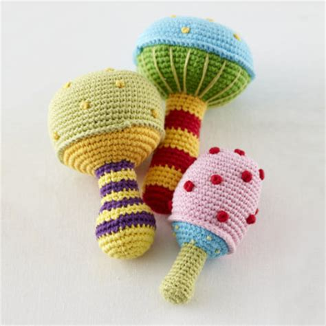 knitted baby rattle baby toys cool baby and stuff