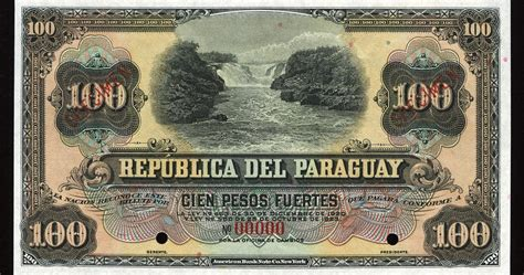 bca currency paraguay 100 pesos banknote of 1923 world banknotes