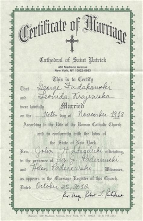 Catholic Church Marriage Records From Catholic Church Marriage Certificate Pictures To Pin On Pinsdaddy