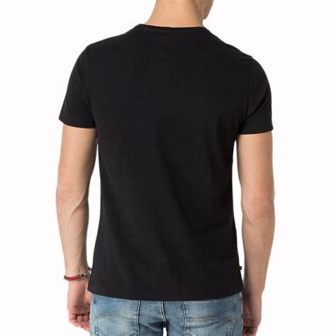 T Dos t shirt homme hilfiger homme noir avec poche