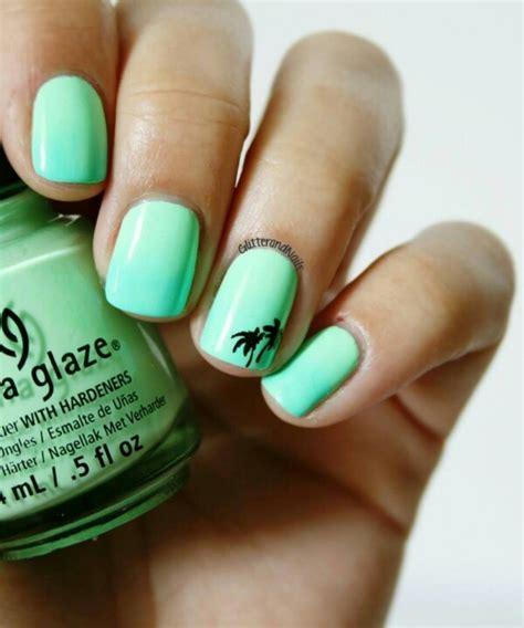 easy nail art palm tree simple summer nails manicure nailart makeup nails