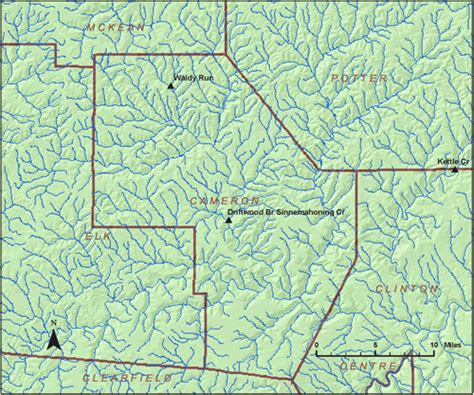 Cameron County Search Stations Where Ground Water Recharge Was Estimated In Pennsylvania