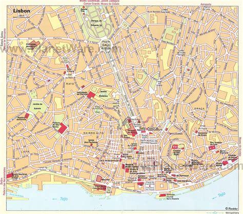 printable map lisbon maps update 44003129 lisbon tourist map printable