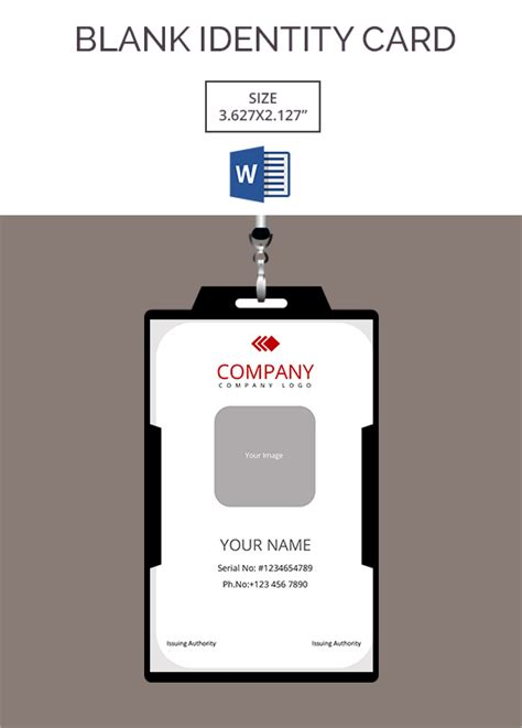 i card template 30 blank id card templates free word psd eps formats