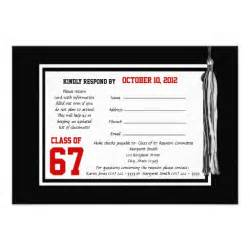 class reunion response card invitation zazzle
