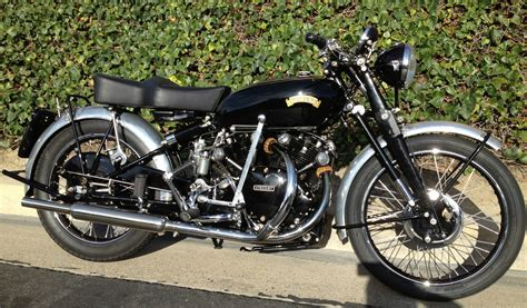 The Black Shadow restored vincent black shadow 1953 photographs at