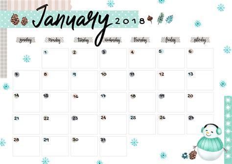 printable calendar 2018 colorful january 2018 printable colorful calendar free download