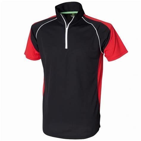 Panel Sport tombo teamsport mens panel zip neck sports polo shirt ebay