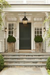 Front Door Windows Inspiration Front Porch White Pots Flanking Each Side Steps