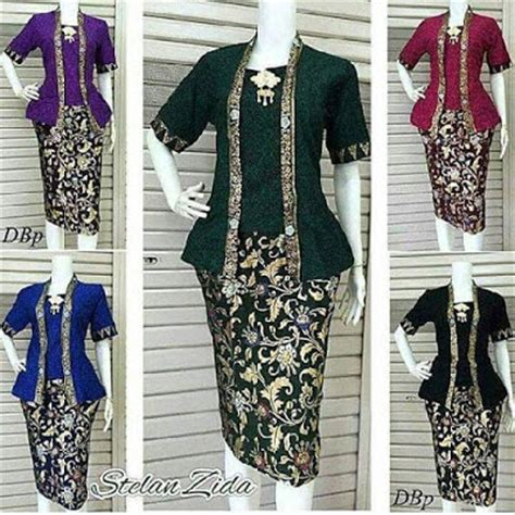 Rok And Blouse Modern 105 rok blouse batik collar blouses