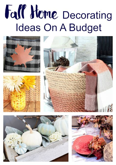 fall home decorating ideas on a budget inspired