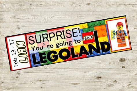 printable legoland tickets printable ticket to legoland with custom name reveal