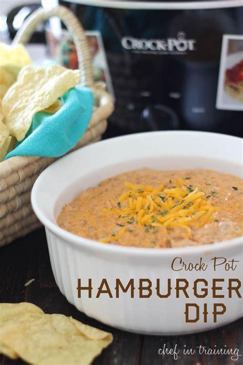crock pot hamburger dip and giveaway chef in training
