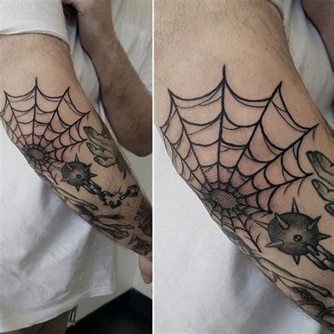 spider web tattoos for men 80 spider web designs for tangled pattern ideas