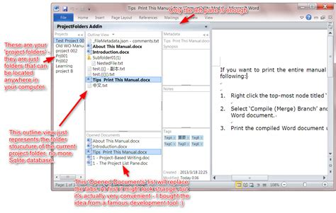 Outliner Folder by Outliner Software And Document Organizer For Ms Word