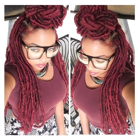 faux locks dreads prices red faux locs hairspiration pinterest my hair
