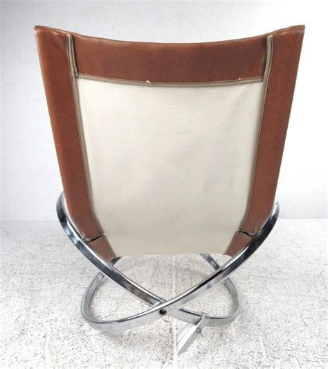 unique mid century modernist chrome and vinyl chaise lounge chair for sale at 1stdibs