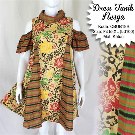 Blus Batik Cap Pola Bahu Tunik 2 dress tunik nesya kembang lurik dress murah batikunik