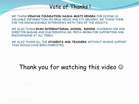template of vote of thanks abuse ppt
