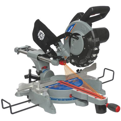 cing saw king canada 10 sliding compound miter saw with laser